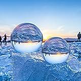 Bola de Cristal ESMART 80mm, K9 Bola de Cristal para Fotografía, Bola Cristal con Base para Decoración de Hogar, Regalos y Dinivación