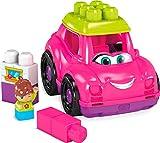 Mega Bloks Coche descapotable rosa, juguete de construcción para niños +1 año (Mattel GCX11)