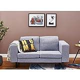 Canapé d'angle 2 Places en Tissu pour Salon, Bureau, 153 x 80 x 80 cm (Gris)