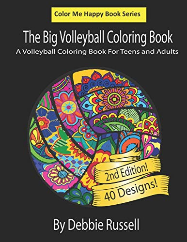 Compare Textbook Prices for The Big Volleyball Coloring Book: An Amazing Volleyball Coloring Book  For Teens and Adults Color Me Happy  ISBN 9781690049654 by Russell, Debbie