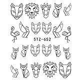 QSDFG 1pcs Fantasy Nail Art Water Sticker Simple DIY Modelo Manicure Foils Decoraciones de uñas Herramienta de uñas