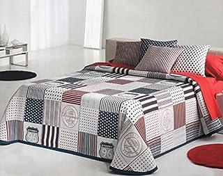Colcha estampada juvenil, fabricada en Portugal, fácil lavado, várias medidas. (cama 90cm)