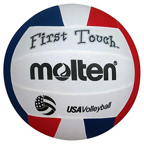 Molten First Touch Volleyball, vermelho/branco/azul, 10 e menos/142 g