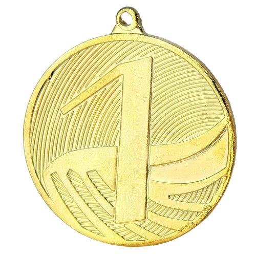 pokalspezialist 10 Stück Medaille Gold MD1291 aus Stahl, 50 mm x 3 mm