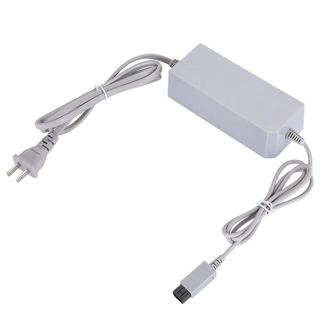 チキンごちそうロケーションFosa ACアダプタ 新しい電源アダプタ ニンテンドーWii 110-240V交換用電源コード 壁の電源(ホワイト USプラグ)
