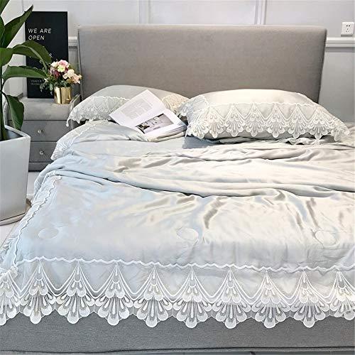 Heqianqian Bettdecke Klimaanlage Quilt Double Summer Cool Bettdecke - All Seasons Thin Quilt für Erwachsene und Jugendliche Steppdecke