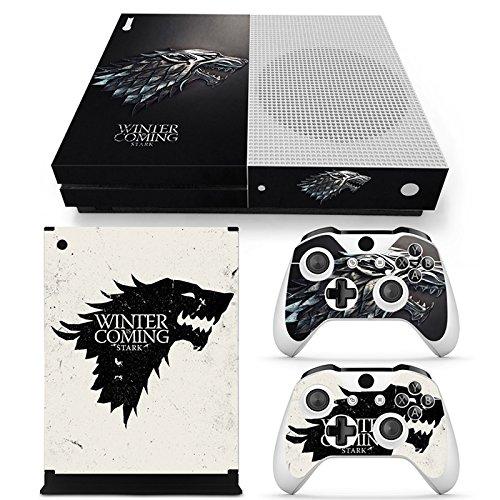 46 North Design Xbox One S Folie Skin Sticker Konsole GOT aus Vinyl-Folie Aufkleber Und 2 x Controller folie