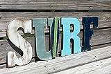 Alfery33red Surf Letras de Pared Tabla de Surf guardería náutica Playa decoración galería Sala de Estar Cena rústico Boda Cartel de Madera decoración
