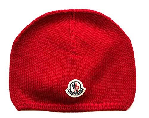 Moncler Bambino Cappello Cappellino Cuffia Berretto in Lana (Rosso, XXS)