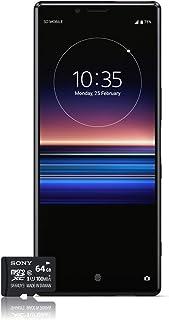 Sony Xperia 1 Smartphone Bundle (16,5 cm (6,5 tum) OLED-skärm, dubbla SIM-kort, 128 GB minne, 6 GB RAM, Android 9.0) svart...