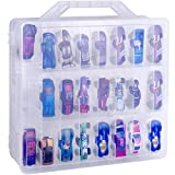 NA Double Sided Toy Storage Organizer Case for Hot Wheels Car, Matchbox Cars, Mini Toys, Small Dolls. Carrying Box Container Carrier with 48 Compartments. (Box Only)