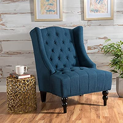 Christopher Knight Home Talisa | Tall Winged Tufted New Velvet Accent Chair |
