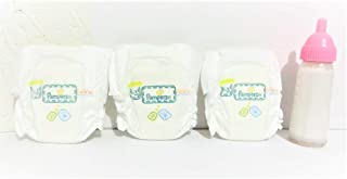 Custom Set for Smallest Baby Alive Dolls or Similar Sized Dolls- 3 Super Tiny Diapers + 1 Disappearing Magic Milk Doll Bottle
