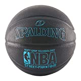 Spalding 71022 NBA Street Phantom Official Outdoor Basketball, Neon Blue/Black, Size 7/29.5""