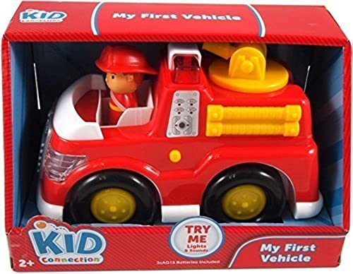 saludable Kid Connection My First Vehicle Fire Fire Fire Truck - great firetruck for pre-schoolers with lights & sounds by Kid Connection  almacén al por mayor