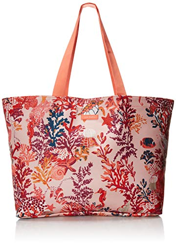 Vera Bradley Women's Lighten Up Large Family Tote Bag, Shore Thing Coral