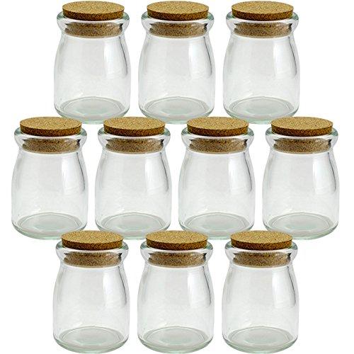 コルク瓶 ヨーグルト100 コルク付 100ml 〈45×40×15〉 -10本セット-
