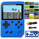 Lifellery Retro Handheld Game Console, Portable Retro Game Console with 500 Classical FC Games 3-Inch Screen 1020mAh Rechargeable Battery Support TV Connection & 2 Players for Kids Adults (Blue)