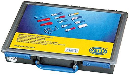 HELLA 8KW 009 254-801 Leitungsverbindersatz, universal Installationsmaterial, Quetschverbinder, 400er Set