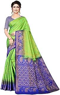 Neerav Exports Banarasi Kanjivaram Silk Traditional Jacquard Saree (Green)