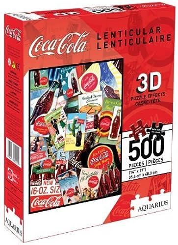 autorización oficial Coca-Cola 500 Piece 3D Lenticular Jigsaw Jigsaw Jigsaw Puzzle by Aquarius  Envío 100% gratuito