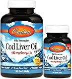 Best Barleans Cod Liver Oils - Carlson - Cod Liver Oil Gems, 460 mg Review