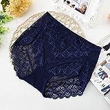 LEPSJGC Sexy bragas transparentes mujeres encaje ropa interior cintura de lencería sin fisuras primeros calzoncillos (Color : Style six, Size : XXX-Large)