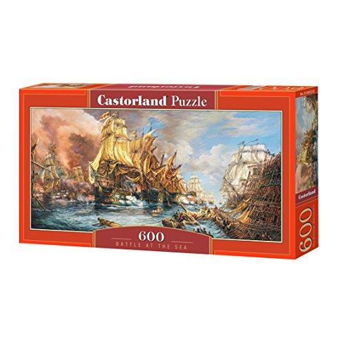 Castorland the pcs Battle at Thr Sea Puzzle 600 pezzi, Multicolore, B-060252