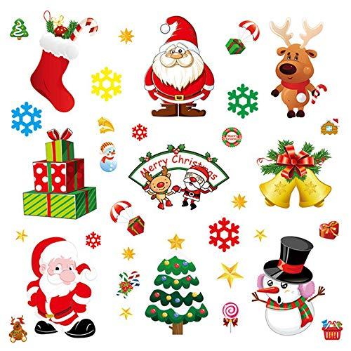 gotyou 10 Piezas Adhesivo de Decoración Navideña,Vinilo de Navidad Pared Decoració de Navidad Copos de Nieve,Etiqueta de la Decoración de la Ventana,Decoraciones de Navidad