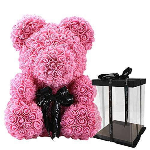 Fafalloagrron - Oso de Rosa con Caja de Regalo, diseño de Ositos de P