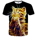 Hgvoetty Unisex Animal Shirts for Men Women Funny Graphic Tees M