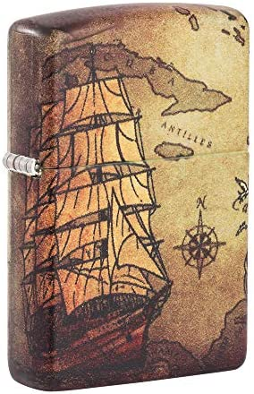 Zippo Pirate Ship 540 Color Pocket Lighter One Size product image