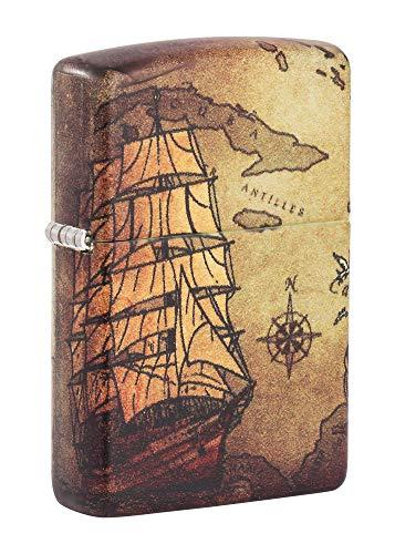 Zippo Pirate Ship 540 Color Pocket Lighter, One Size Maryland