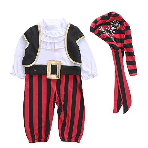 LiChaoWen Disfraz de Halloween para nio Halloween del Traje Muestran Los Nios Otoo Maillot De Manga Larga Diseado Especficamente For Safari Beb Pirata del Beb (Size : XL)