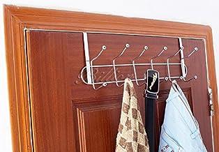 HOME CUBE Multifunctional 6 Stainless Steel Door Hook Organiser (Silver)