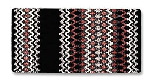 Westernpad Luna Sattel Decke, schwarz/Marsala/schwarz Metall/Ash Silber/tabasc Metall/Creme/anthrazit