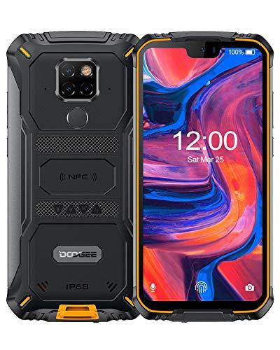 DOOGEE S68 Pro Android 9.0 Teléfono Móvil Libre Resistente 4G, Helio P70 Octa Core 6GB + 128GB, 4G IP68 Smartphone Antigolpes, 6300mAh 5.9 Inch FHD+, Cámara 21MP+16MP, NFC Carga Inalámbrica, Naranja