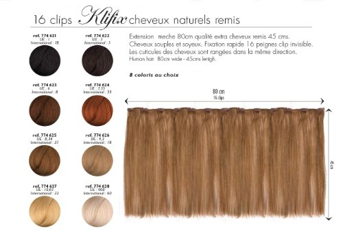 meches extensions remy hair 45cm meche 80cm n 9.3 blond tres clair dore