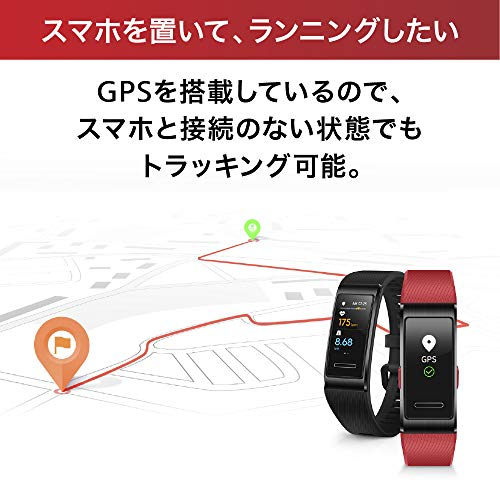 HUAWEIBand4pro/グラファイトブラック【日本正規代理店品】PS搭載/リアルタイムトレーニング/24時間心拍測定