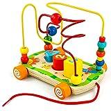 Nuheby Jouet Bois Jeu Labyrinthe Circuit De Motricité Jouets Bebe Boulier Enfant Bois Jeux Deveil Bebe 18 Mois 2 3 Ans Fille Garcon
