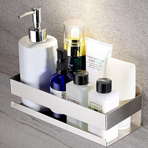 KEGII Duschablage ohne Bohren Duschkorb Selbstklebend Duschregal Edelstahl Gebürstet für Badezimmer