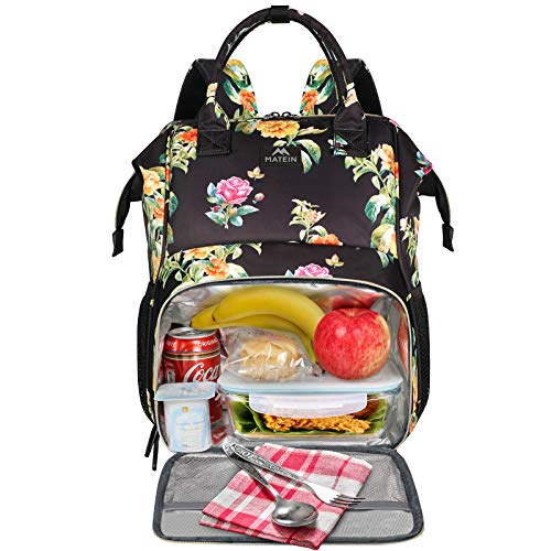 Womens Lunch Bag, Insulated Lunch Box Cooler Laptop Backpack with USB Port for...