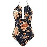 MERICAL One Piece Swimwear Backless Pancia Controllo Monokini Costumi da Bagno delle Donne(Arancione,XL)