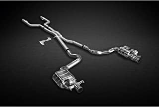 Capristo Compatible With Valved Exhaust System Catback + Remote Mercedes C63 4.0 V8 2015 BiTurbo