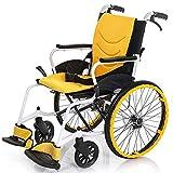 Silla de ruedas plegable Silla de ruedas manual y ligera para discapacitados y ancianos - Silla de ruedas autopropulsada...