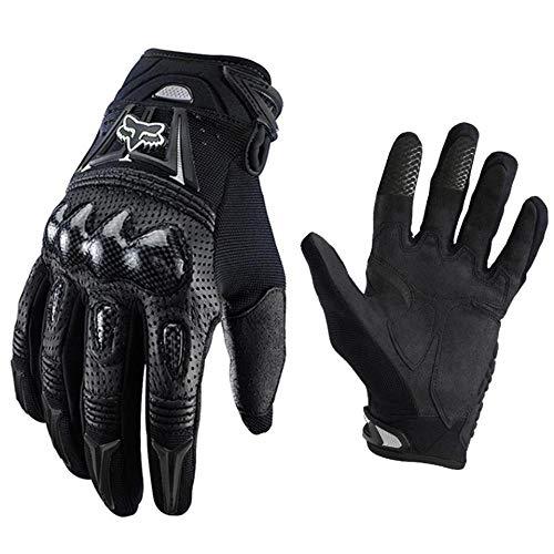 LxdGloves Motorrad Handschuhe Carbon Shell Hard Shell rutschfeste stoßfeste Outdoor-Offroad-Fahrrad Handschuhe Schwarz L