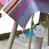NAMIS 8 Stück Tischdeckengewichte Edelstahl Tischtuchklammer Blume Tischdeckenbeschwerer Tischdecke Gewichte Verdickter Stahl Clip In- & Outdoor Tischtuchhalter für Haus Restaurant Cafe(Silber) - 5