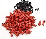 FEEE-ZC 170Pcs Tapones de inserción de reparación de neumáticos en Forma de Hongo universales Rojo Negro Conveniente y fácil de Usar