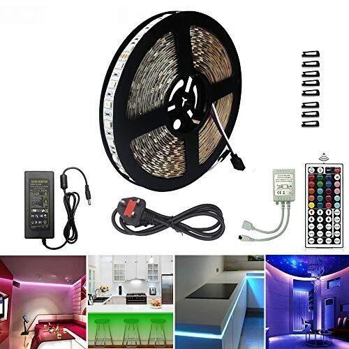 SADSDM Kit de cinturón ligero LED, 600leds RGB 32.8FT 10M Barra de luz flexible SMD 5050 Coloración LED Cinta de la correa de luz de la cinta 44 Eliminación de claves, usado para la luz de la cama de