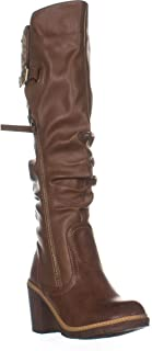 ZIGI Lochlan Zip Up Knee High Boots, Tan Faux